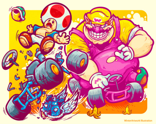 """Beware The Blue Shell""poor Toad…For @herocomplexgallery 's ""Righteous Rides"" show in April!Limited Edition 20 x 16 giclee prints will be sold at the showStore   •   Behance   •  Twitter   •   Facebook"