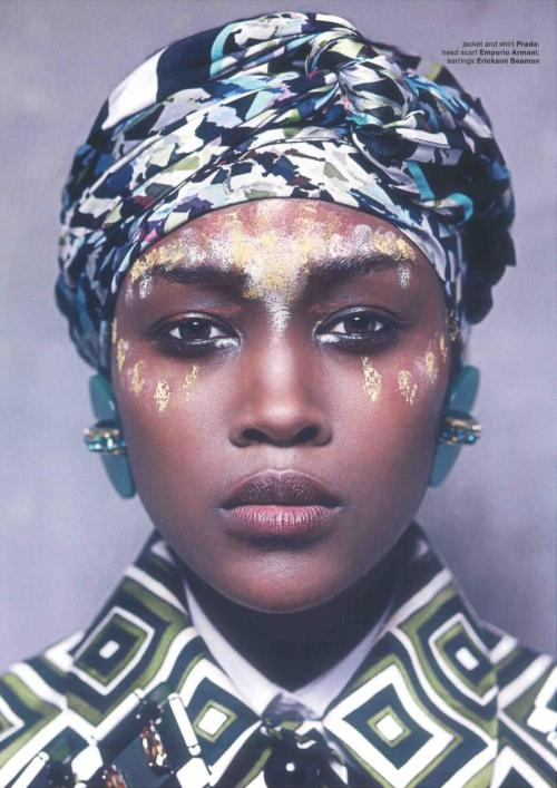blackfashion:  Betty Adewole by Philip Meech for Muse Magazine.