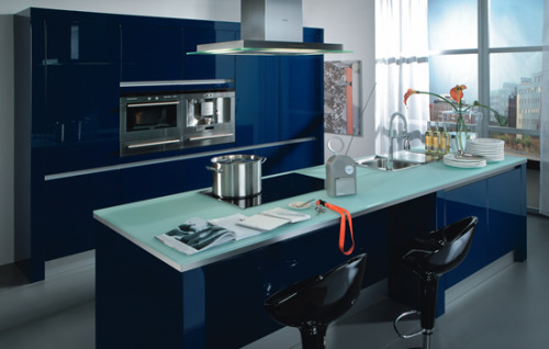 homedesigning:  Blue Kitchen Decor