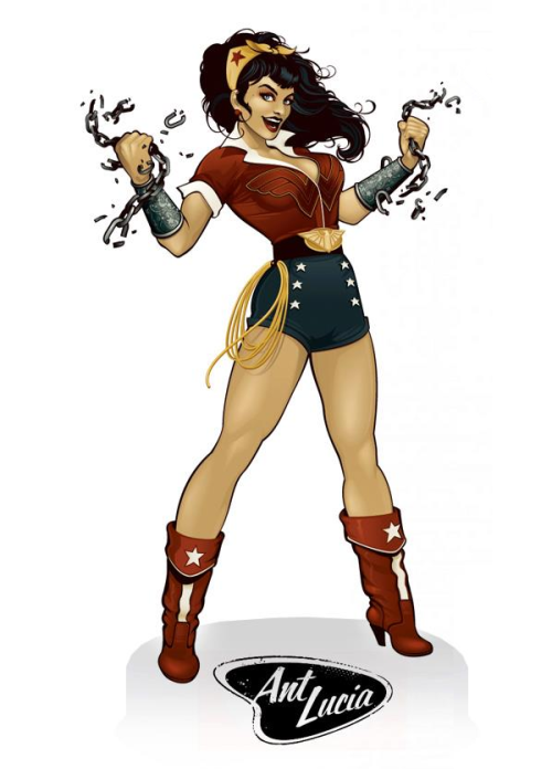 kateordie:  comicartappreciation:  Wonder Woman // Ant Lucia  Yes