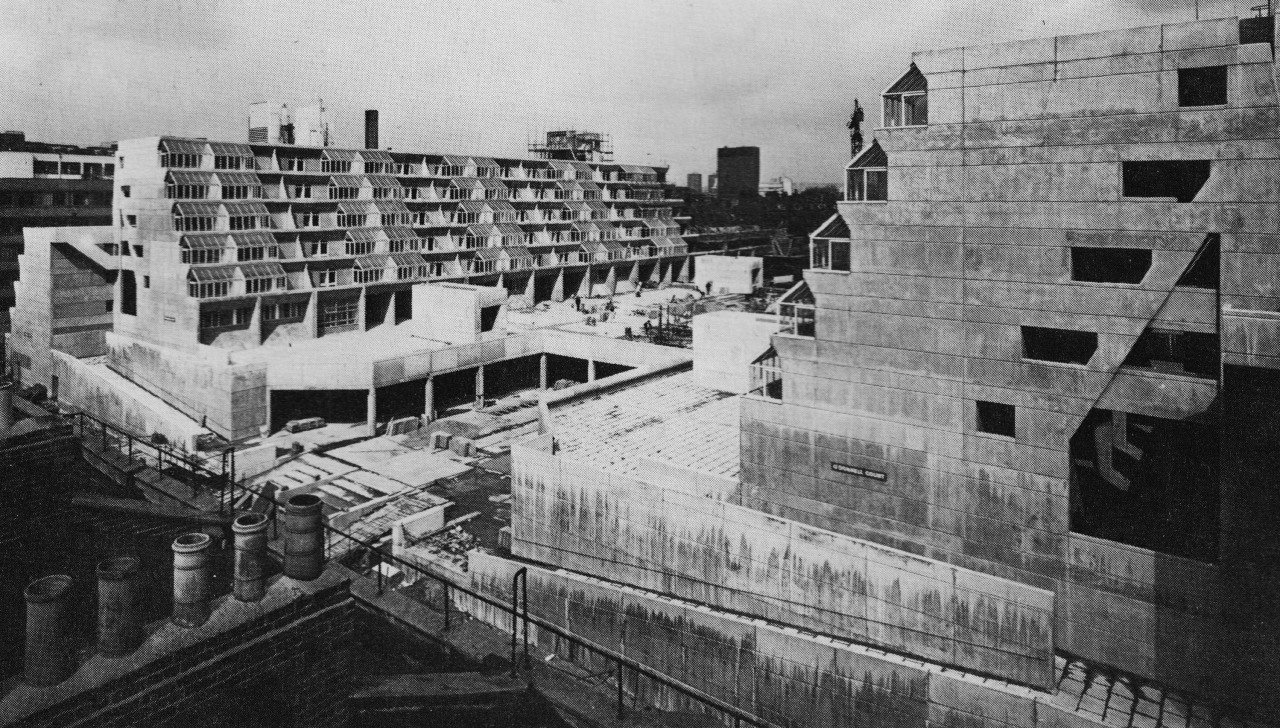 Foundling Estate Development, Bloomsbury, London, 1968 (Patrick Hodgkinson with Sir Leslie Martin)