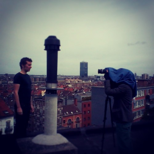 Shooting our new #music #video from the #roofs  (à Parc de Forest / Park van Vorst)