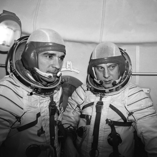 Soyuz 23, with its crew of Vyacheslav Zudov and Valery Rozhdestvensky, has the (dubious?) honour of being the only Soyuz splashdown. After an aborted mission to Salyut 5 due to a docking malfunction, the Soyuz returned to Earth. However, the Soyuz came down on Lake Tengiz in Kazakhstan during a snowstorm. The rescue crews tried unsuccessfully to reach them, first with rafts and amphibious vehicles. The next day someone swam out and attached a cable for a helicopter to haul the Soyuz out of the lake and the crew was finally rescued. (1976) (Source)