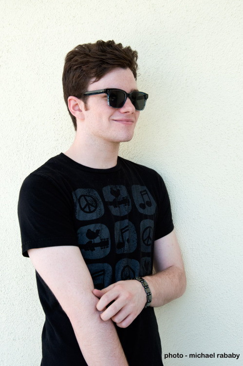 chris colfer - struck by lightning - on location
