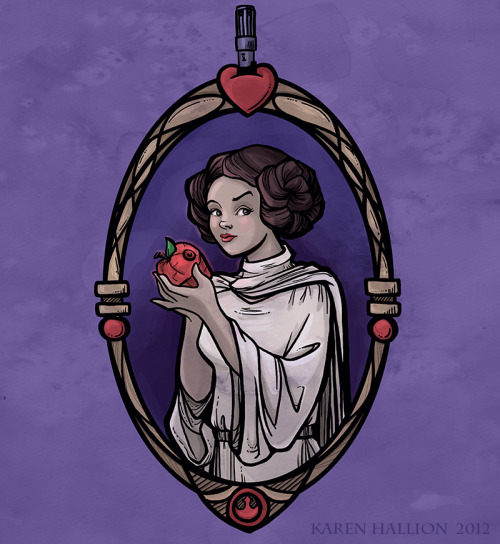 Snow Organa and the Poisoned Death Star Prints available @Society6 Created by Karen Hallion