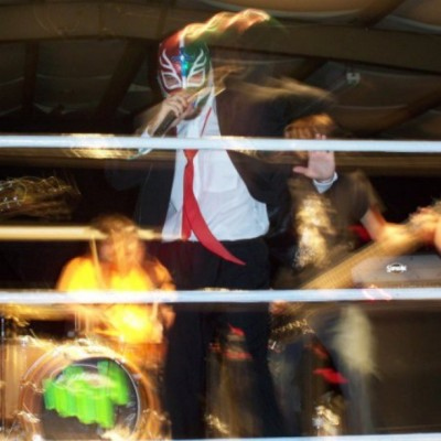 That time I played the very first #TirAsleen show with a luchador mask on. #tbt #2009
