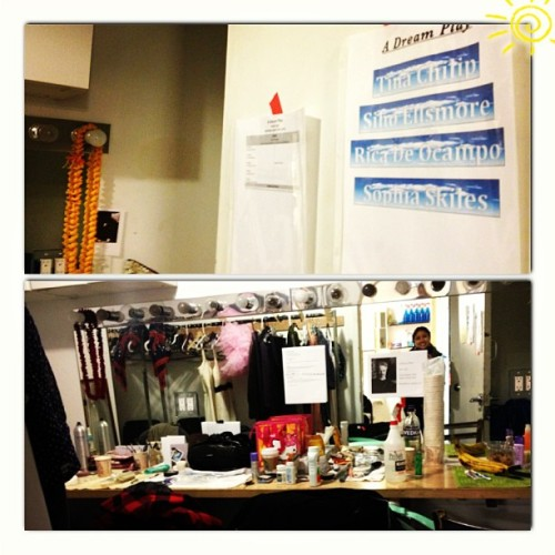 Last day in this dressing room for #ADreamPlay it been a great run!!  I love this cast and I've loved working here :) #closingnight #naatco  (at HERE Arts Center)