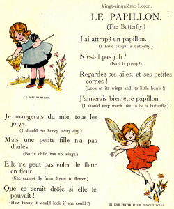 adelphe:  La Papillon My Very First Little French Book c1911