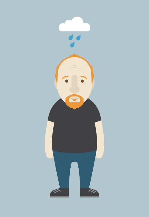 chirp:  Here is an illustration I made of my favorite ginger, Louis C.K.