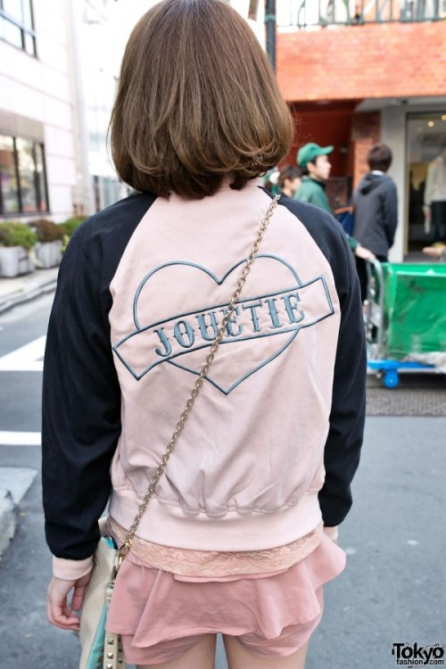 Cute Peach Fashion w/ Jouetie Jacket & Lace in Harajuku