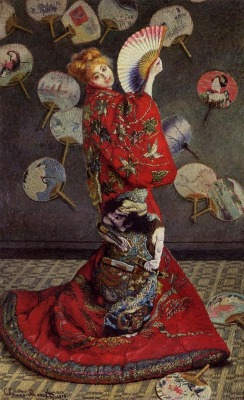 La Japonaise (Camille Monet in a Japanese Costume). Claude Monet, 1876. -Wikipaintings