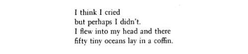 Anne Sexton, from The Sea Corpse