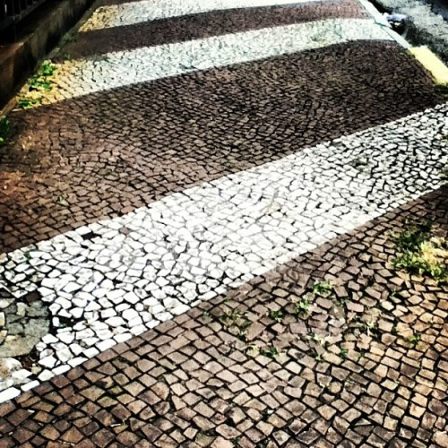 I fell in love with the #sidewalks of #sãopaulo. #tile #stones #lines