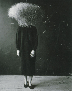 weepling:  Bushhead (Body Object Series), 1984-1993 by Ann Hamilton