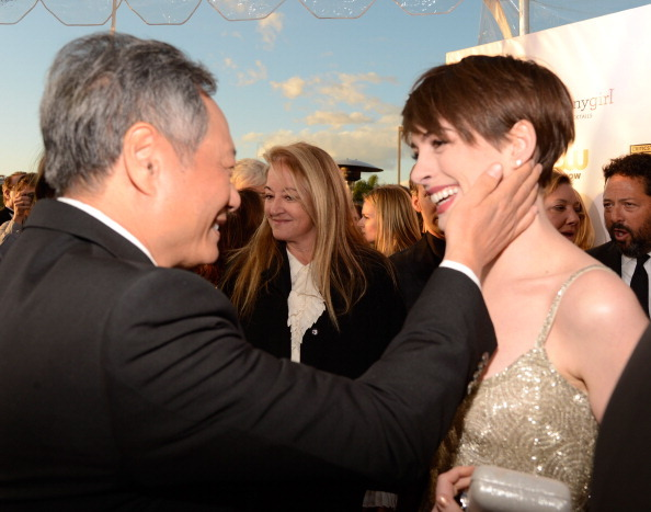 Anne Hathaway with her Brokeback Mountain director Ang Lee at the Critics Choice Awards, January 10th