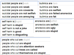 soulsinthestars:  I typed all of these in on Google and this is what came up.  Good job, society.