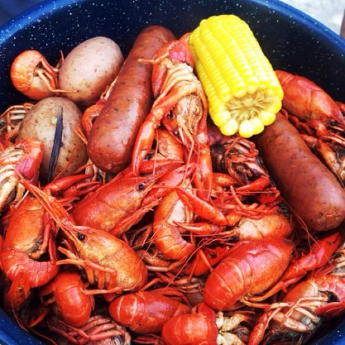 Dinner tonight! Great crawfish boil thanks to my brother in law!