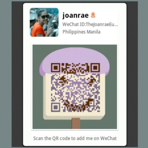 scan & let's chat :) #wechat #instachat lol :-D