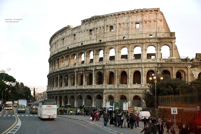 | ♕ |  Colosseum at dusk  | by © Marina Sivakova