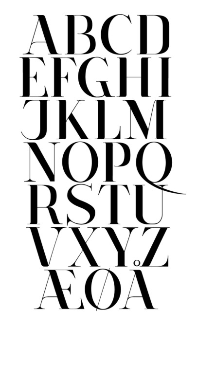 The Danish alphabet.