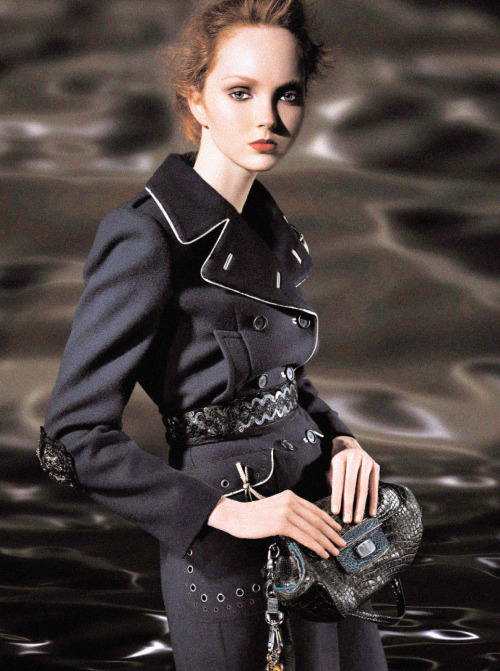 Lily Cole photographed by Steven Meisel for the Prada Fall 2004 campaign.