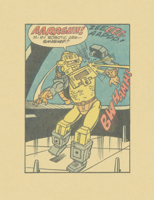 ISOLATED COMIC BOOK PANEL #276title: MANTECH #1 - P6:2artists: DICK AYERS, CHIC STONEyear: 1984