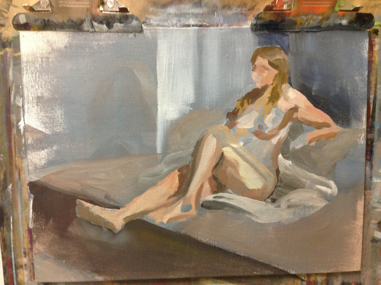 Incomplete life painting, approx. 25 minutes. Pretty happy with the colour in this one.