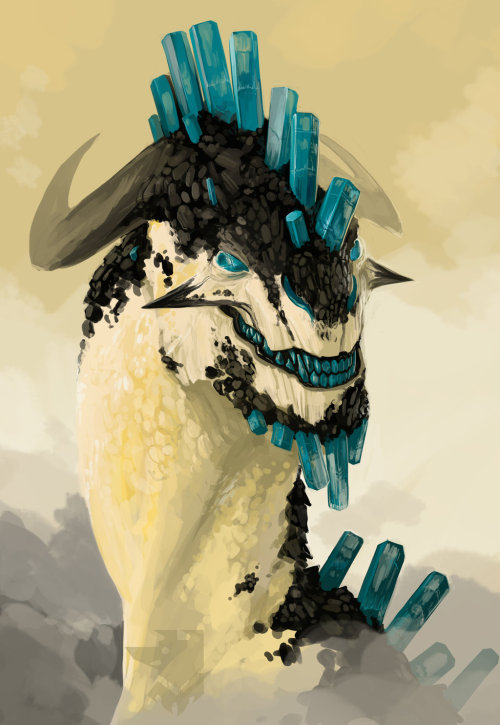 awesomedigitalart:  Mineral Dragons by Pythosblaze artist on tumblr
