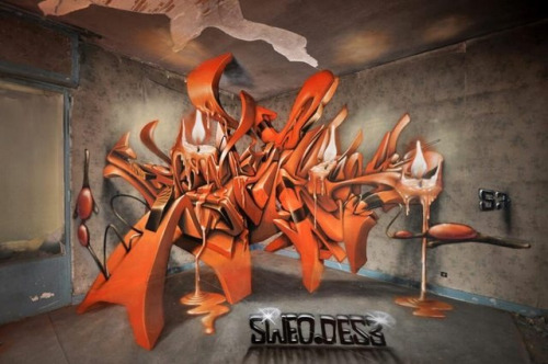 redwolf92:   This 3D Graffiti is the shit