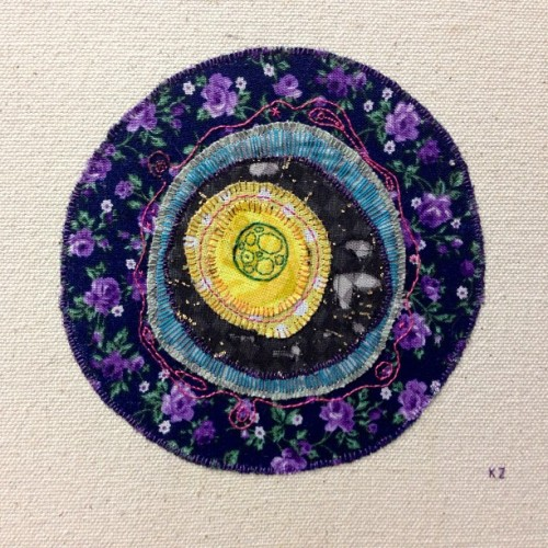 Finished #embroidery #abstract #art #smallworks #science #amoeba
