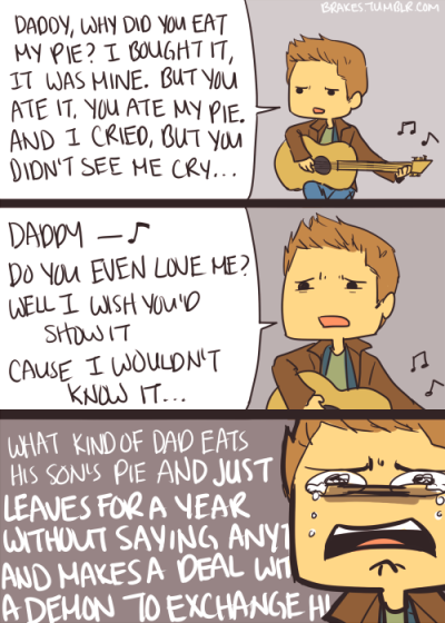 "brakes:  Dean ""Daddy Issues"" Winchester (original lyrics)"