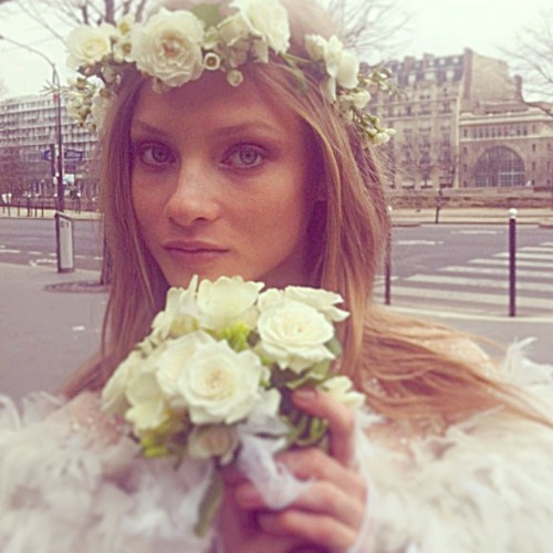 modelspersonal:  Anna Selezneva | Married today in Paris, gown Chanel couture