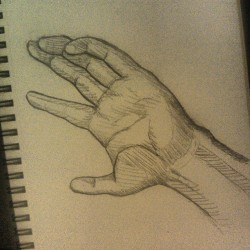 Day # 26 Hand study #sketches