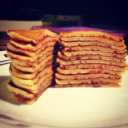 Tower of pancakes!!! Who needs ihop? Thanks @patmosby!!!    #homemadeistheshit #food #pancakes  (at EverywhereWeHouse!)