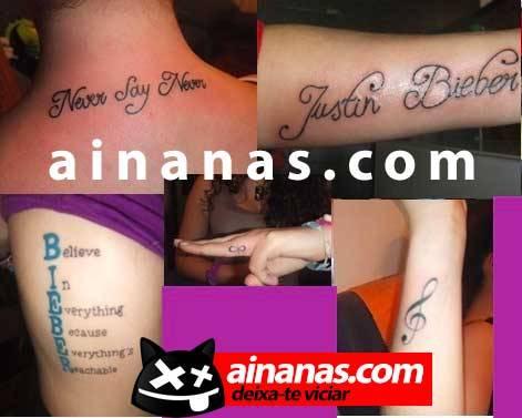 as tatuagens da miuda justin bieber
