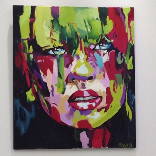 #painting #mine #gift #nielly #oil #portrait #abstract #modernart
