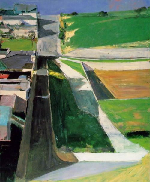 lyghtmylife:  Diebenkorn, Richard [American Abstract Painter, 1922-1993] Cityscape I (Landscape No. 1)1963Oil on canvas60 1/4 x 50 1/2 inSan Francisco Museum of Modern Art