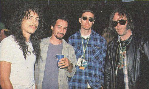 creeping-ddeath:  Kirk Hammett, Mike Bordin, Les Claypool, Neil Young