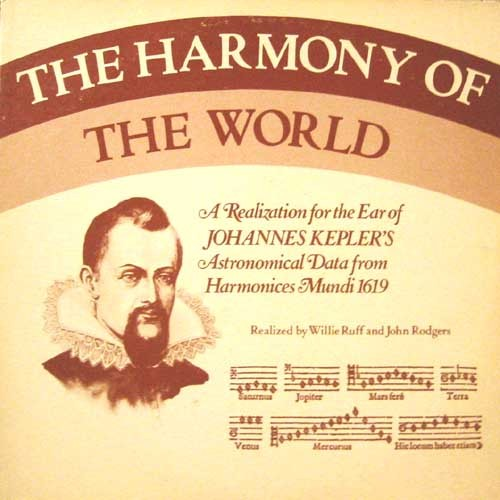 "Johannes Kepler, conceptual noise rock pioneer. Just sayin' mackro:  The Most Important Record Of My Life (This entry is a repost from a blogpost entry I did in 2009.  The record has come back into my life again, thankfully, hence the repost.) The Harmony Of The World was the first record I ever bought. I was only 8 years old, and the 25 cents my grandfather gave me to buy this record from a neighborhood garage sale in Pacific Palisades, CA circa 1980 wasn't technically ""my"" money. However, I had a choice of records, and my pick was made. And I was holding the money to acquire it. The only other hobby that interested me more than music and computers at that age was astronomy. At that moment, there was nothing cooler in life than space and astronomy. I had zero interest in Star Wars or The Empire Strikes Back (having just been released that year.) Those were just movies. Neither was about real space. Having read several books mainly concentrating on the nine planets and all their discovered satellites at the time, and having my interest in music grow and grow each year, a record about astrononomy was a major score. I wasted no time putting on this record the moment I got home. I didn't know what to expect… and what I heard was nothing I would expect. An 8-year-old doesn't care how accessible or difficult a song or album is. It's either cool or it is not cool. Since this was an astronomy record, it was automatically cool. This meant that if I didn't ""get"" what I was listening, I was going to force myself to understand why this record was cool, no matter how long it took. I had no clue what to make of The Harmony Of The World. There's no singing. There are no voices at all. There are no melodies, and there are no rhythms (to an 8-year-old, that is.) There was a lot of scary humming sounds that went on for a long time. The only fun I could get out of the record was to play around with the speed of playback.  The giant 70's wooden monstrosity that was my grandparents' stereo system had a built-in turntable with four record speeds: 16, 33, 45, and 78. I would often just play around with these four speeds whenever I gave The Harmony Of The World my daily listen.  It wasn't until too long that my mother and grandparents asked me to use headphones whenever I played ""that"" record. They bought me a pair of headphones just for the purpose of saving their sanity from my super cool astronomy record. ""Why don't you listen to other records? You played that one enough already."" They never realized how much they were daring me to play this record longer and longer every time they asked that. How dare they tell me to put away something they knew I loved. I was always overly obsequious to my elders. I never was when it came to The Harmony Of The World.  Two months later, I was giving up. I was growing tired of trying to figure out why The Harmony Of The World existed. Nonetheless, I refused to toss this record aside. Even though I had moved on to more conventional records by Lipps Inc., The Gap Band, Devo, and XTC, I knew I had something special, and always kept it in a special place since. … Several years later, thanks to two adventurous 80s radio stations in Los Angeles: commercial station KROQ and college radio station KXLU, my tastes in music had expanded beyond mainstream pop and dance circa 1985. I had no friends from grade 7 to 12, so the radio, the record store, and the cooler magazines at the nearby supermarkets were my only source of music discovery. My family always encouraged me to indulge in music, as it certainly was keeping me out of trouble, so I went record shopping every weekend. The last summer before I headed out to college at UC Irvine in 1989, I came home and played my Happy Flowers record Oof. I put the needle on the track ""I Said I Wanna Watch Cartoons."" Happy Flowers were a Charlottesville, VA duo known for making nauseous sounding noise rock with affected baby screaming and elementary bullying as their vocal delivery.  My grandparents and my mother ran into the living room and thought I was choking or dying! They found out it was just the record I was playing. ""HOW CAN YOU CALL THIS 'MUSIC'? YOU SPEND ALL YOUR MONEY ON RECORDS, AND THIS IS WHAT YOU BUY? THAT'S DISGUSTING!""  Somewhere in the middle of my whole family yelling at me, I turned my head"
