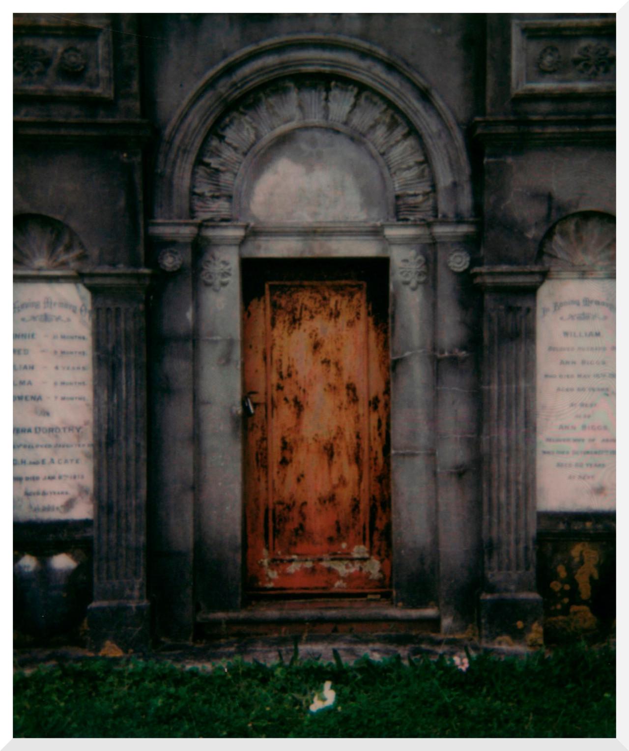 Polaroid #polaroid#analog#architecture#cemetery#photography #photographers on tumblr #original photography