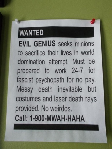 danicashmanica:  Standard employment advert placed by John Green.