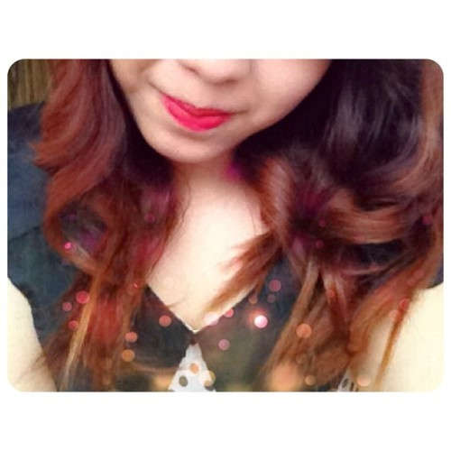 Curly Ombré. Hi hair, please stay like that forevah. #ombre #ombrehair #hair #love