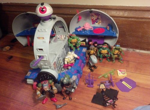 Vintage 1990 Teenage Mutant Ninja Turtles 'Technodrome Playset' w/ Villains!!