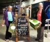 THE FOOD MAVENS  Collecting their weekly box of organic food from the local region are two members of the community supported agriculture scheme, Sydney Food Connect.  This image was made for use in the Food Connect e-newsletter, suggesting that the iPhone and other mobile technology devices have a place in editorial photography.