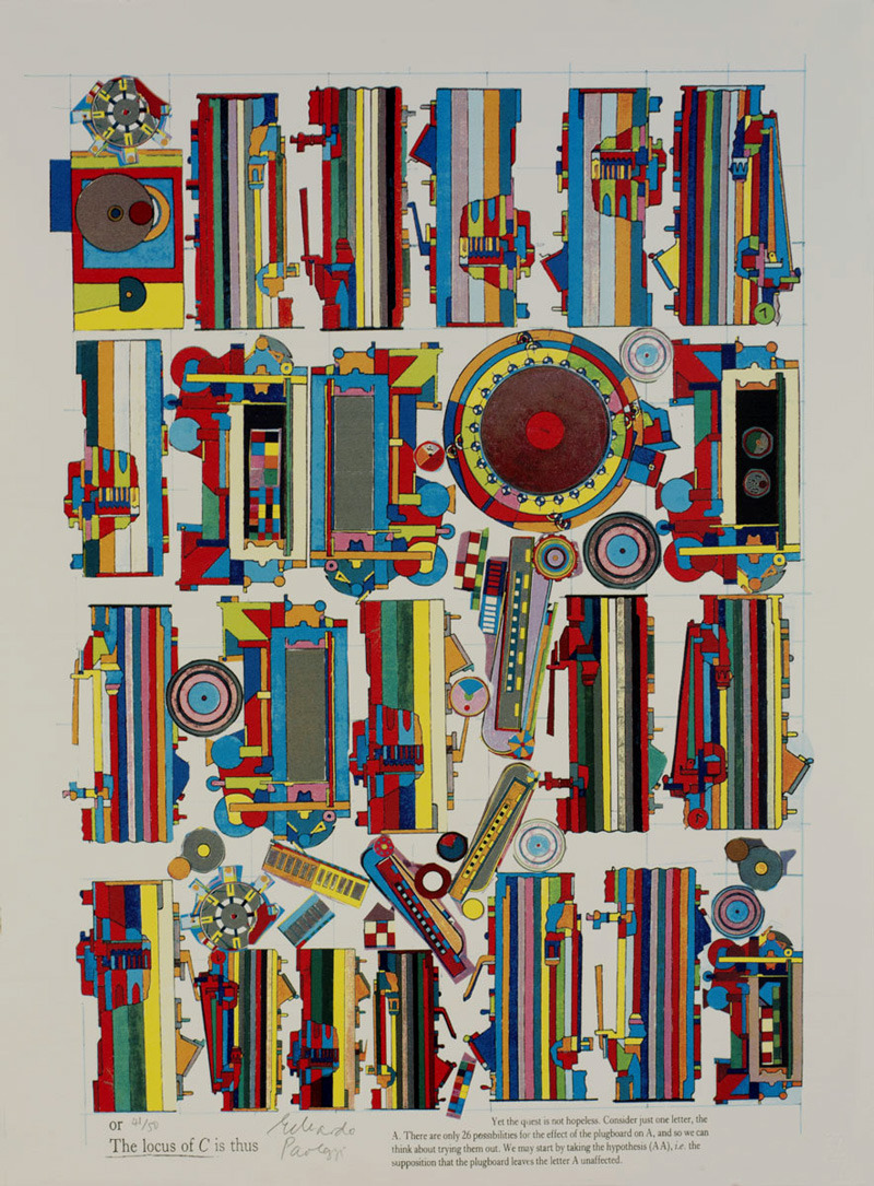 Eduardo Paolozzi, Turing 8, 2000 via http://abstractcomics.blogspot.com/ also:http://www.printeditions.com/atcoll.asphttp://www.synth.co.uk/images/paolozzi1.html