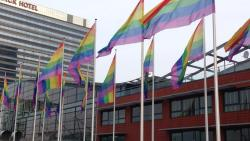 hey-assbutt-its-a-parade:  finndicate:  vjezze:  Amsterdam is turning rainbow for a visit of the Russian president Putin. The council of the city of Amsterdam has decided to hang out the gay pride flag on all council owned buildings and offices, in protest to Russia's new anti-gay law.  there's several of these as well;  pretty sure Amsterdam is now the sass capital of the world