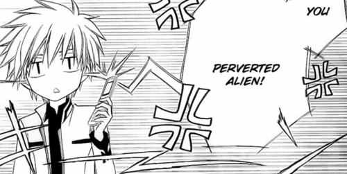 aho-rashii:  You Perverted Alien!