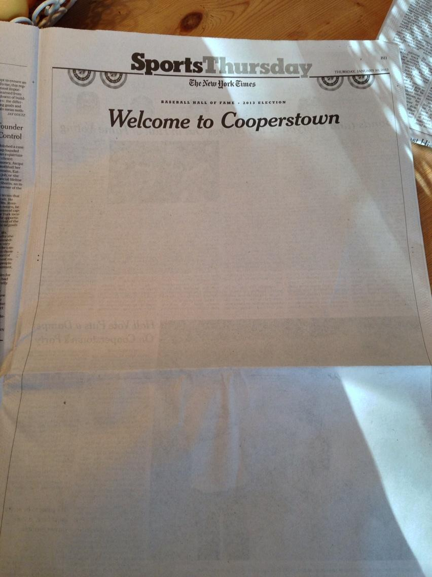 Pic: New York Times Sports Page Gets Blanked.
