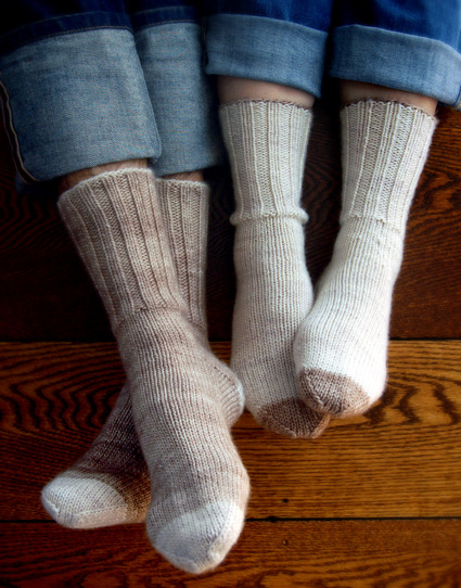 Whit's Knits: Homespun Boot Socks - Knitting Crochet Sewing Crafts Patterns and Ideas! - the purl bee