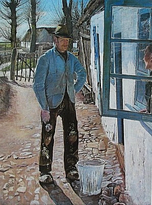 Ring, Laurits Andersen (1854-1933) - 1908 The House Painter (Statens Museum for Kunst, Copenhagen, Denmark) by RasMarley on Flickr.